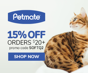 15% Off Orders $20+ with code SOFTQ2 at Petmate.com 4/1-6/30/20.