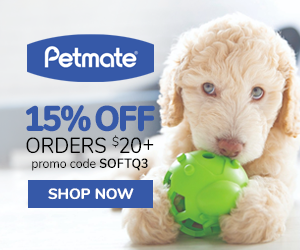 15% Off Orders $20+ with code SOFTQ3 at Petmate.com 7/1-9/30/20.