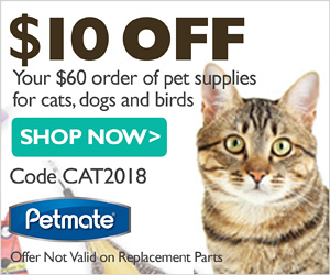 $10 Off $60+: code CAT2018 (ends 2/28/18)