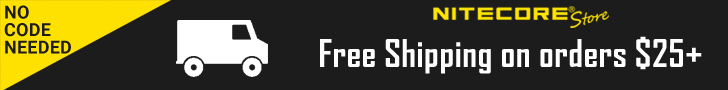 Free shipping on NITECORE Store orders over $25 - No Code Needed