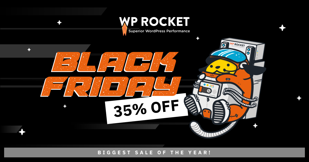 WP Rocket Black Friday