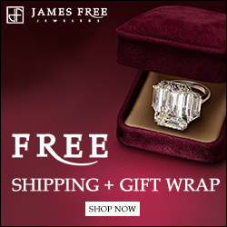 Free Shipping from James Free Jewelers