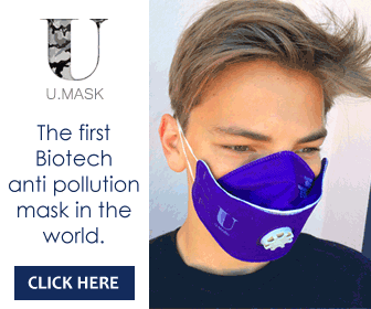 U-mask - The first Biotech anti pollution mask in the world.