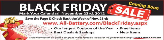 All-Battery Black Friday Deals