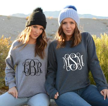 Custom Monogram sweatshirts