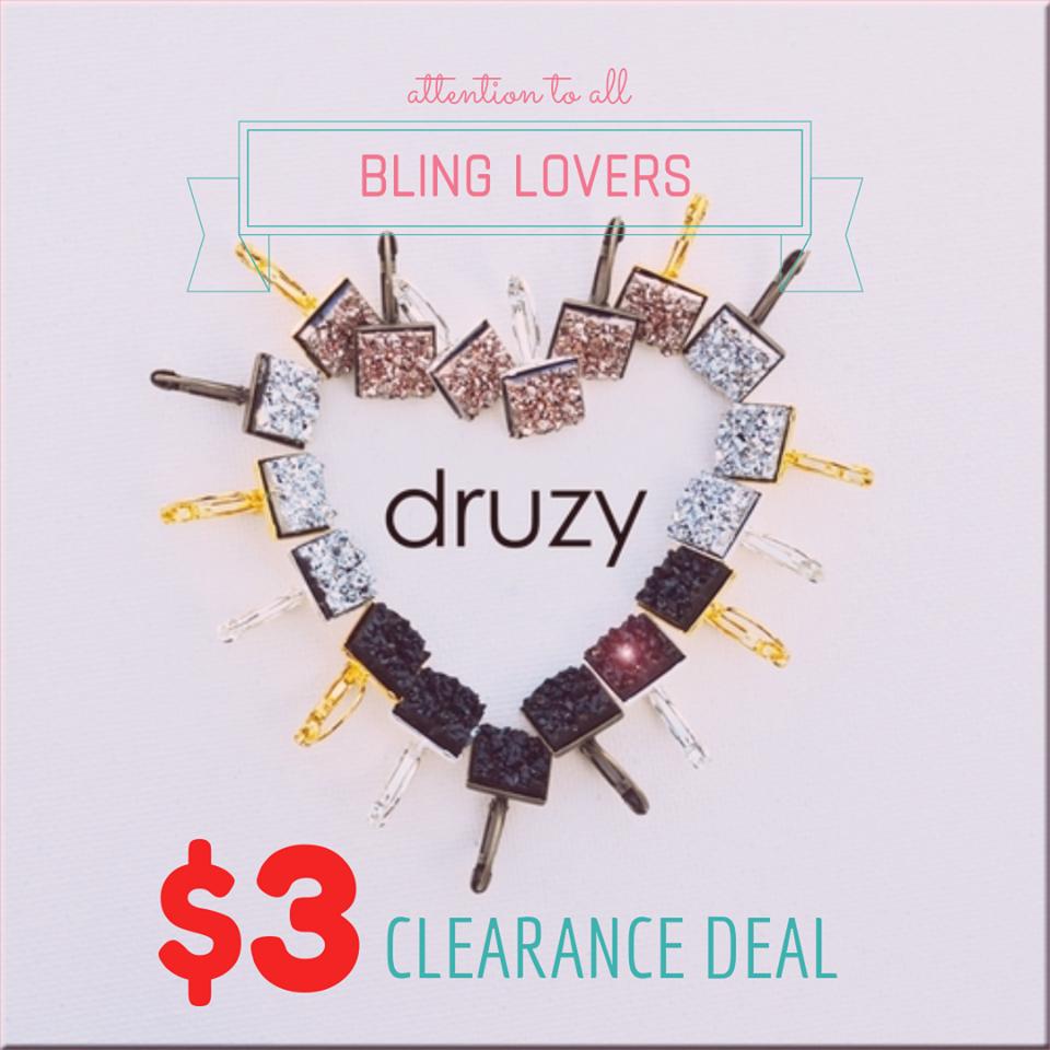 Druzy Earring Clearance
