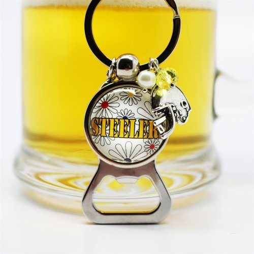 Sunday game day favorite NFL team bottle opener keychain