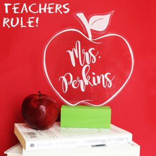 Customized Teacher Sign with Teacher's name in it
