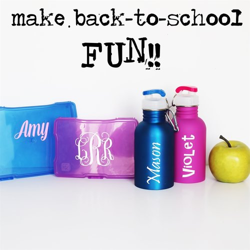 Customizable back to school decals