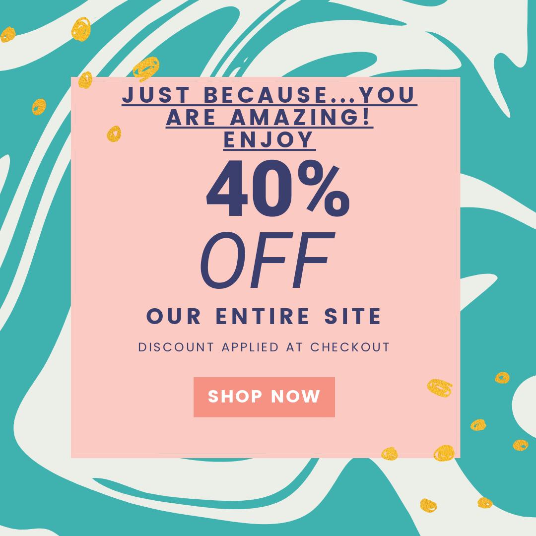40% OFF | SHOP NOW