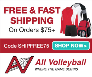 Free Shipping on Orders $75+ with code SHIPFREE75 at AllVolleyball.com