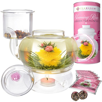 Rose Flowering Tea Gift Set