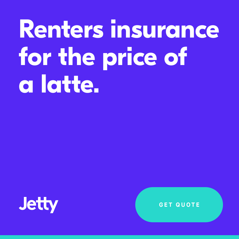 Jetty Renters Insurance starting at just $5/month!