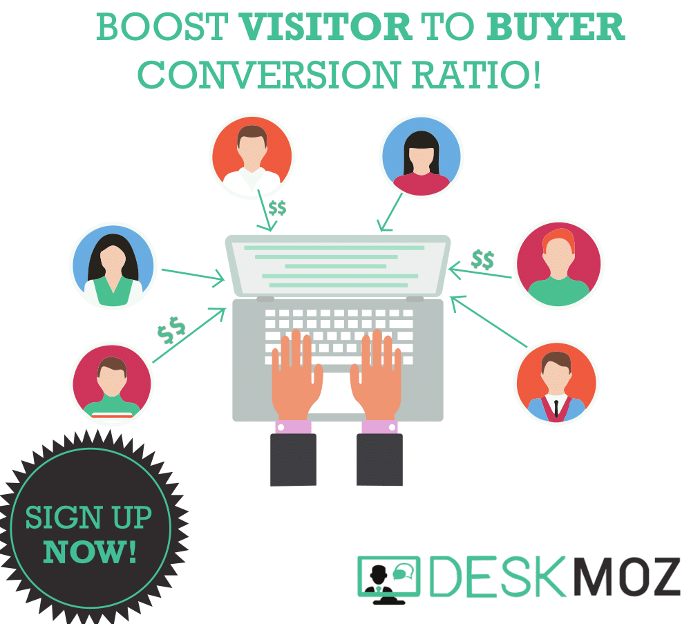 Boost Visitor to Buyer Conversion Ratio with DeskMoz!
