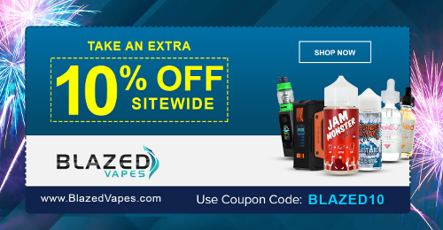 Blazed Vapes 10% Coupon 500x260