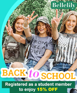 Registered as a student member of Bellelily to enjoy 15% off