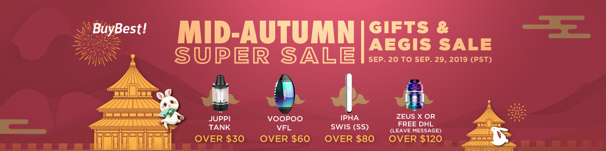 Mid Autumn Super Sale | Free Gifts & Aegis Sale