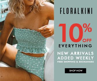 10% off Bikinis & Accessories