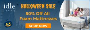 Halloween Sale: 50% Off Any Foam Mattress + 2 Free Pillows