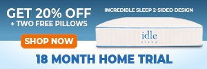 20% OFF + 2 FREE pillows on any Idle mattress