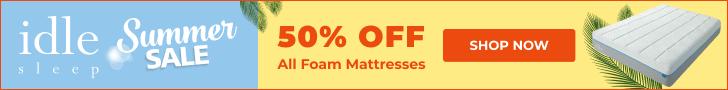 Holiday Sale: 50% Off Any Foam Mattress