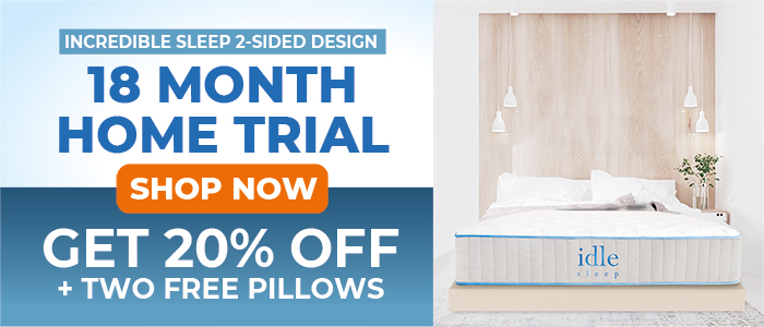 30% OFF + 2 FREE pillows on any Idle mattress