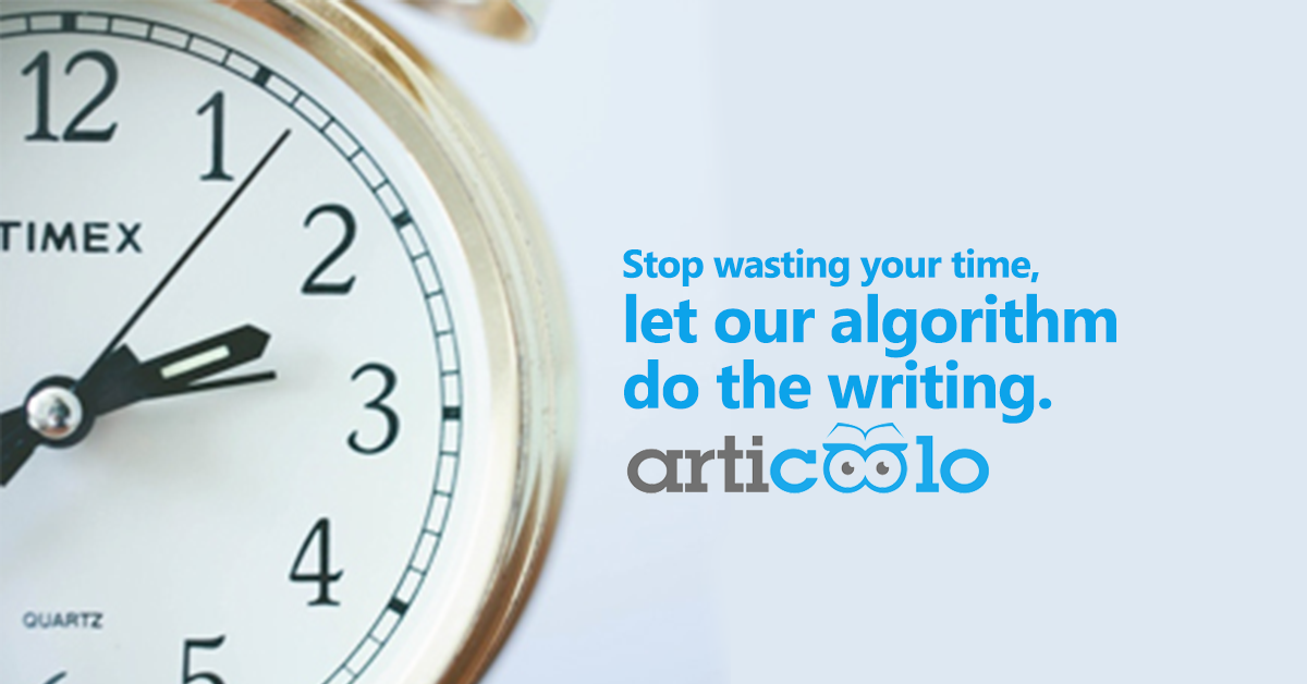 articoolo let our algorithm do the writing banner
