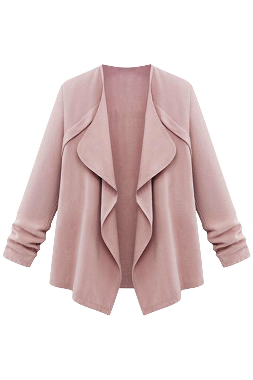 Iyasson Draped Lapel Casual Jacket Coat