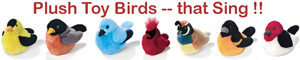 Plush Toy Birds -- That Sing!!