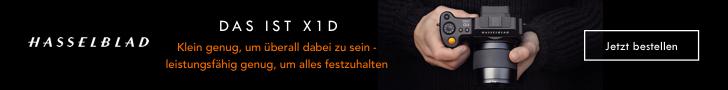 Hasselblad X1D Kamera, Klein genug, um überall                                     dabei zu sein - leistungsfähig genug, um alles festzuhalten. Jetzt bestellen!