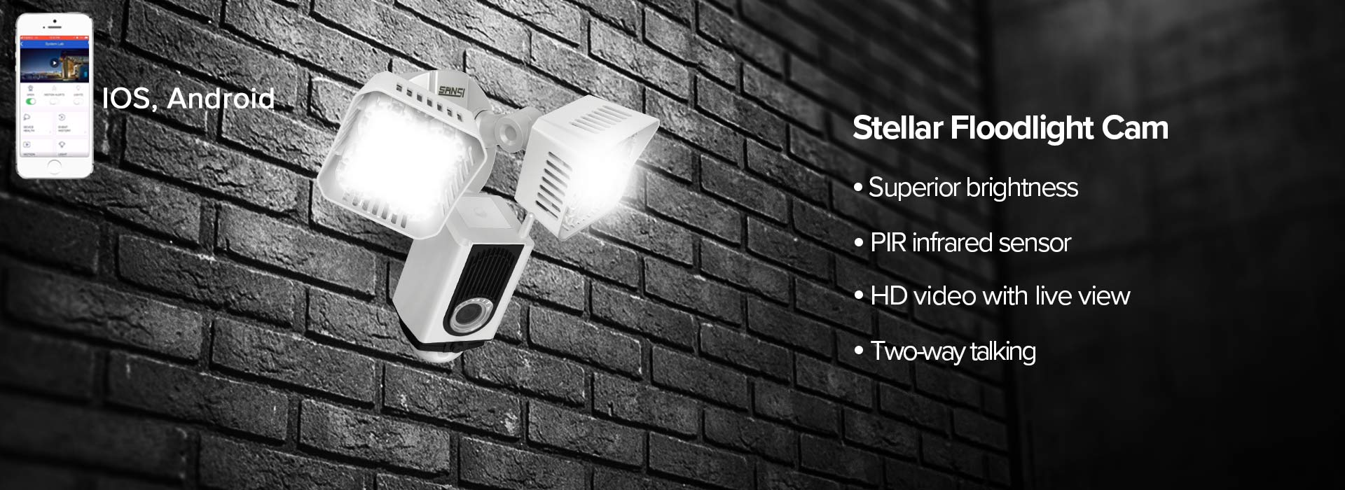 smart led floodlight cam displays on cellphone
