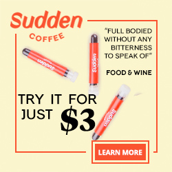 Sudden Coffee Try it for $3 250x250