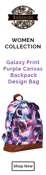 Galaxy Print Purple Canvas Backpack Design Bag