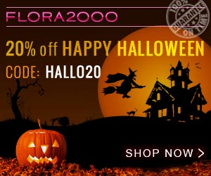 Celebrate Halloween with Flora2000. Flat 20% off Code HALLO20