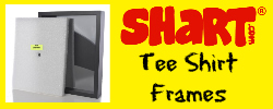 Shart® T-Shirt Display Frames.  Frame and Display your favorite tee shirt in 60 seconds with professional results.