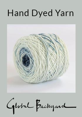 Indigo gradient yarn cake