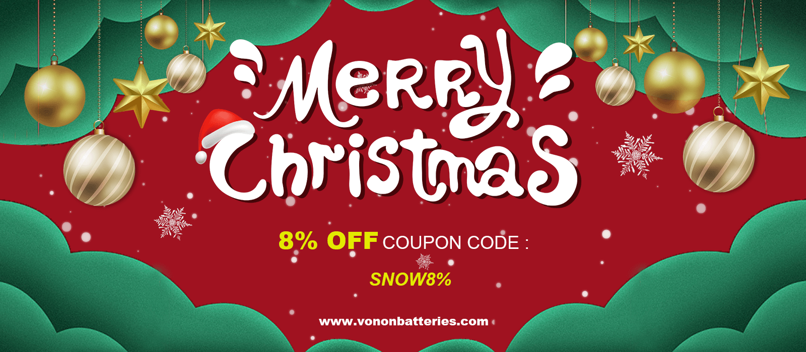 Christmas Offers - Vanon Batteries Coupon Codes and Coupons