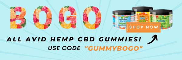 SHOPNOW3 - Buy One Get One- On All Avid Hemp CBD Gummies