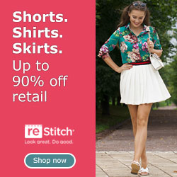 Shorts. Shirts. Skirts. Up to 90% off retail.