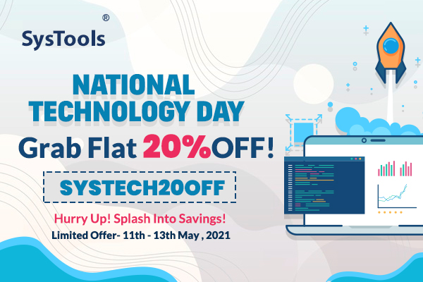 """NewsletterBanner 04 - """"SysTools National Technology Day"""" Limited Offer: Save Up To 20%"""