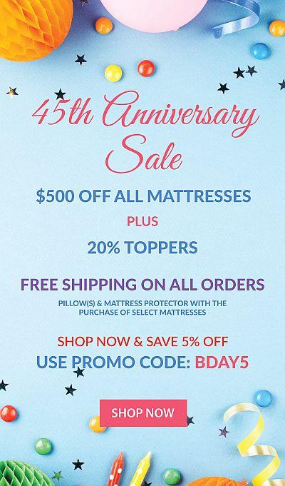 45th Anniversary Sale