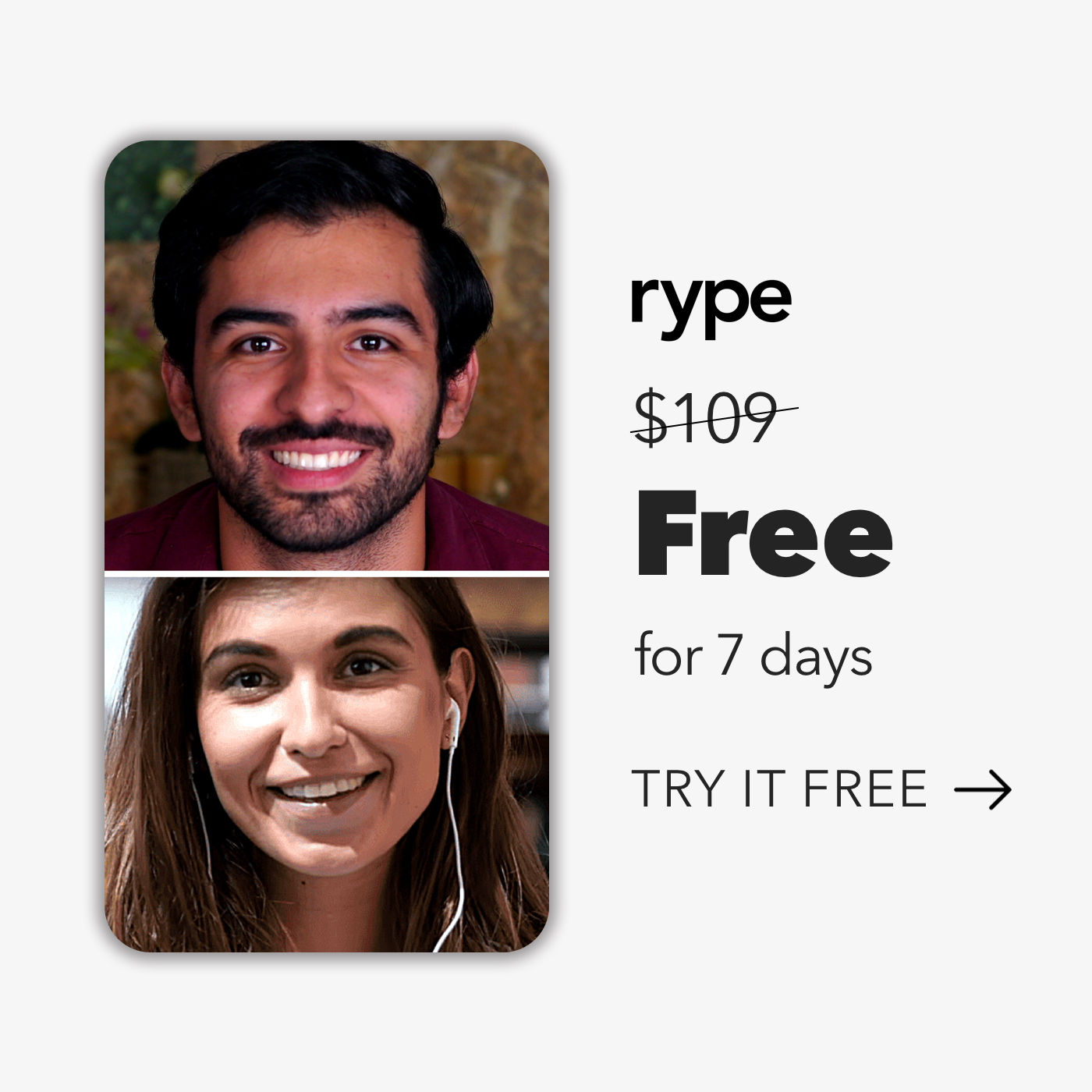 FREE 7-Day Trial of Rype Language Lessons