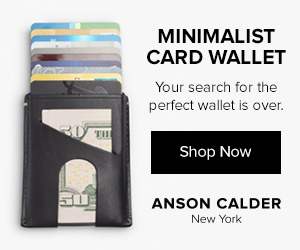 Minimalist Card Wallet. Your search for the perfect wallet is over. Shop Now