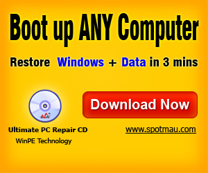 Boot up any computer  restore your Windows and Data