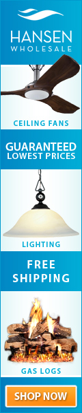 Hansen Wholesale - Ceiling Fans - Lighting - Gas logs