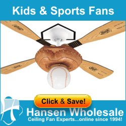 Kids and Sports Ceiling Fans - Guaranteed Lowest Price + FREE Shipping