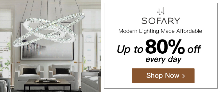 Sofary - Modern Lighting @ up to 80% off every day! Get luxury for less. Visit www.sofary.com + Shop Now! FREE SHIPPING!