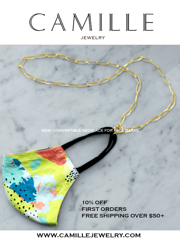 Camille Jewelry - Convertible Chain Necklace For Face masks