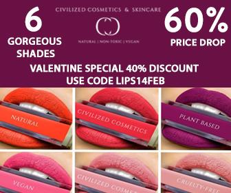 40% DISCOUNT - Liquid Lip Suede Matte Lipstick - Organic, Non-Toxic, Natural, Vegan & Cruelty Free