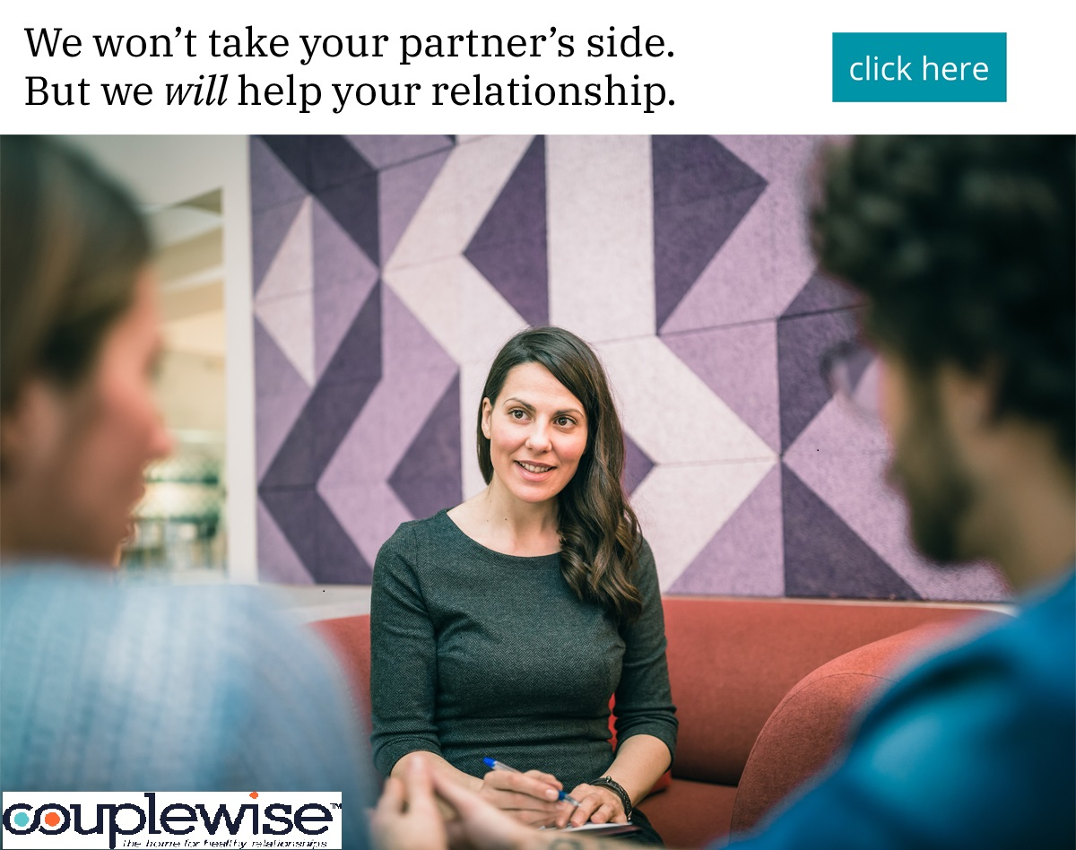 We won't take your partner's side. But we will help your relationship.